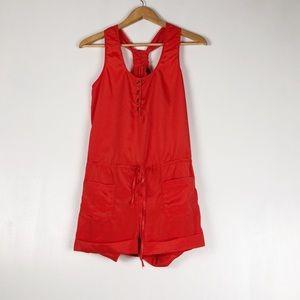 UO Sparkle & Fade Orange/Red Jumpsuit Sz XS